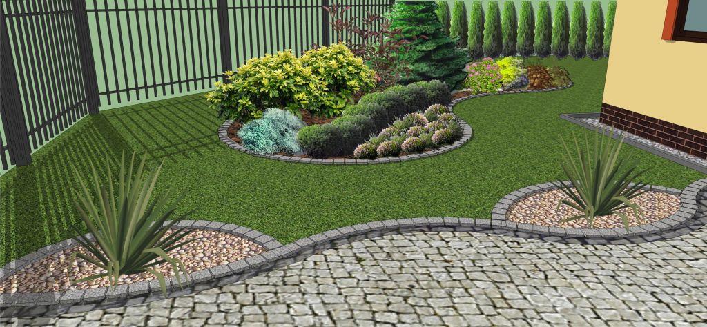 Zielony Ogród Ogród Przed Domem W Białogardzie